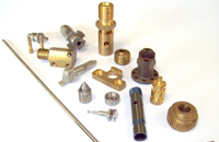 Selection of parts manufactured for automotive industry